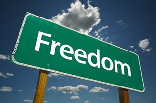 Freedom-road-sign
